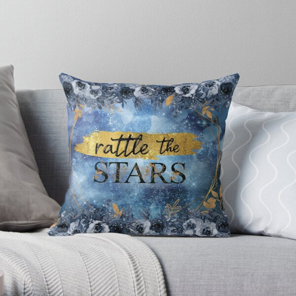 The Stars - blue gold Throw Pillow