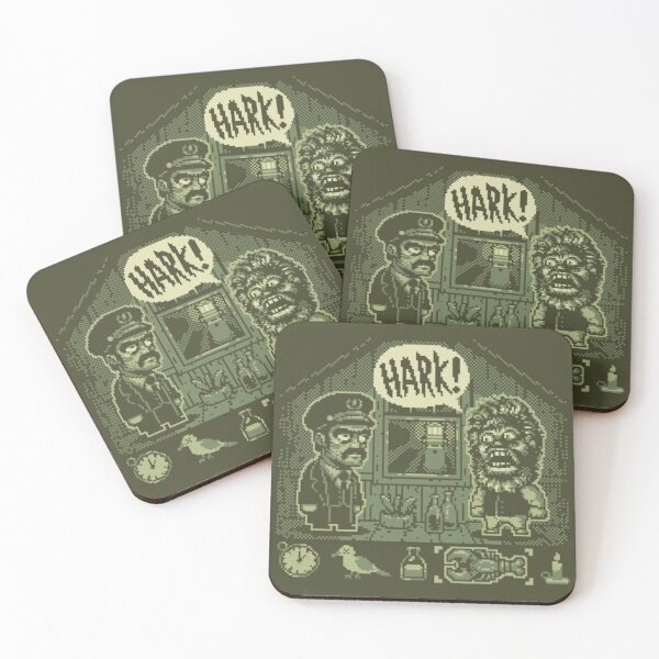 The Lighthouse: Gameboy Edition Coasters (Set of 4)