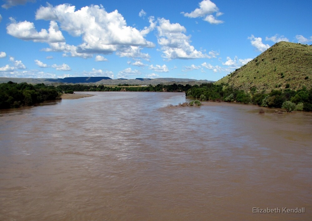 The Orange River (Afrikaans/Dutch: Oranjerivier), South Africa.  by Elizabeth Kendall