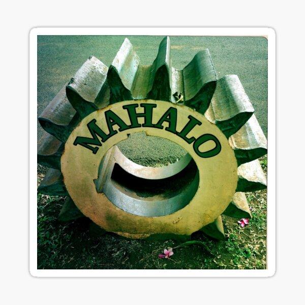 Mahalo Hawaiian Tire  Sticker