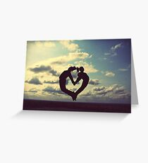 hands on our hearts, hearts in our sky Greeting Card