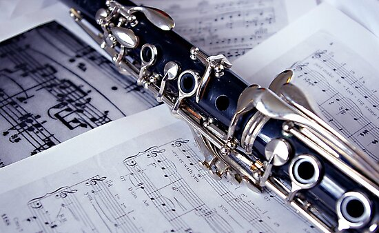 Clarinet on Sheet Music by Lauren Neely