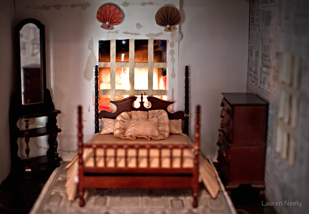 Bed in Doll House by Lauren Neely