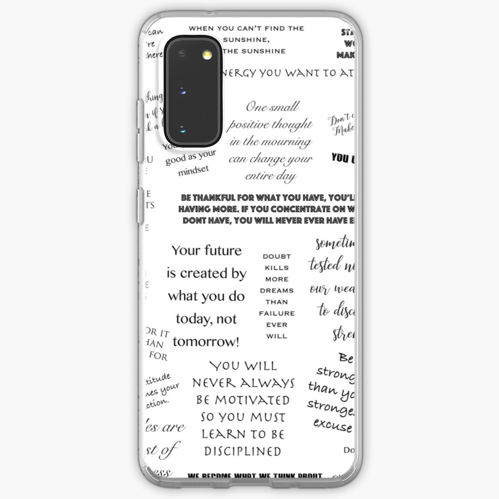 Motivational Wallpaper Quotes Case Skin For Samsung Galaxy By Transitjan Redbubble
