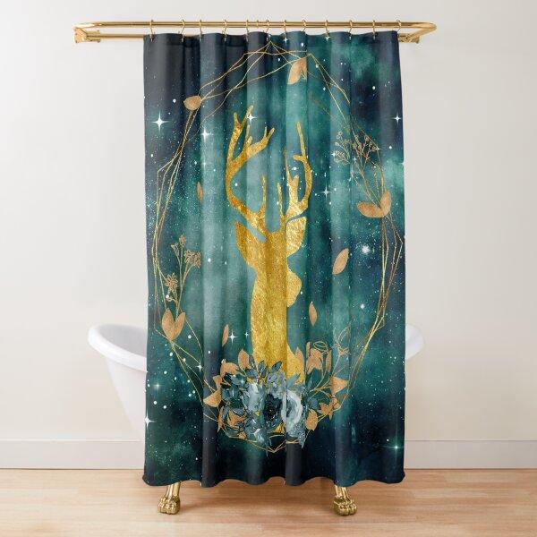 Galaxy Deer Shower Curtain