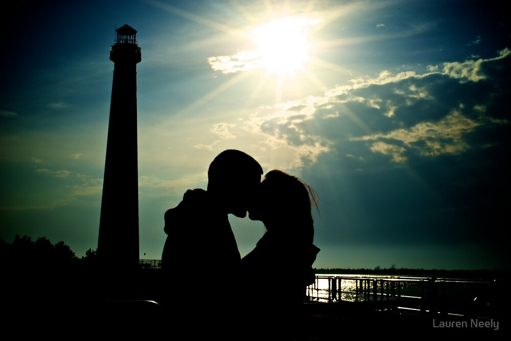 Quot Couple Kissing By Lighthouse Silhouette Quot By Lauren Neely