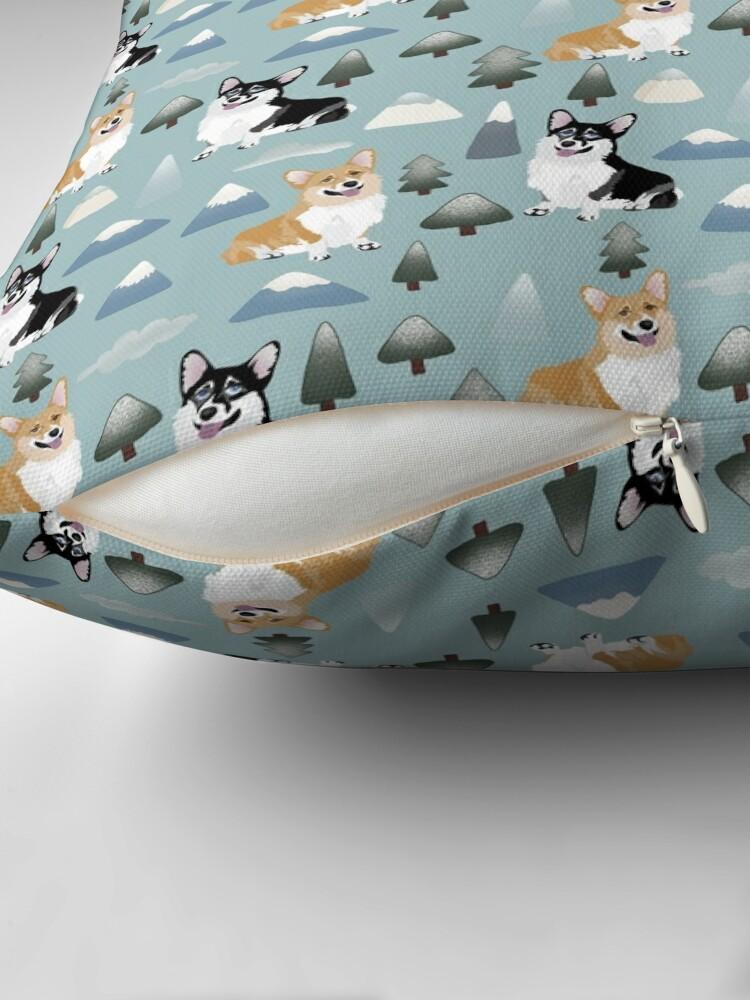 Alternate view of My Corgi World - Majesty Pembroke - Cute welsh cardigan big adventure Throw Pillow