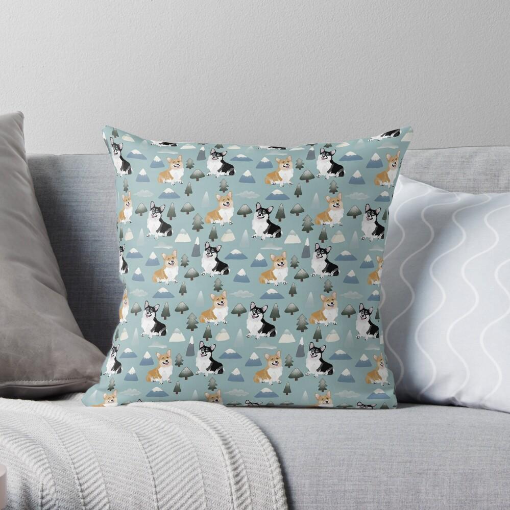 My Corgi World - Majesty Pembroke - Cute welsh cardigan big adventure Throw Pillow