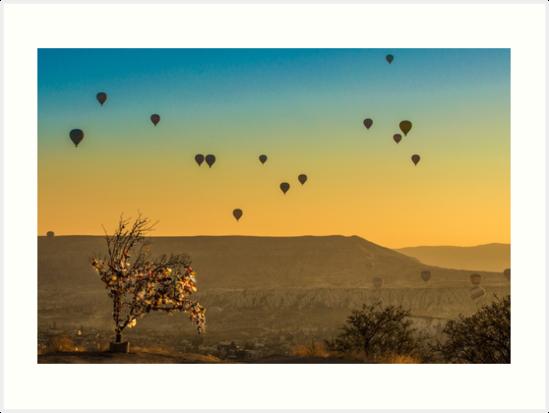 Wish Tree with Balloons by hayrettinsokmen