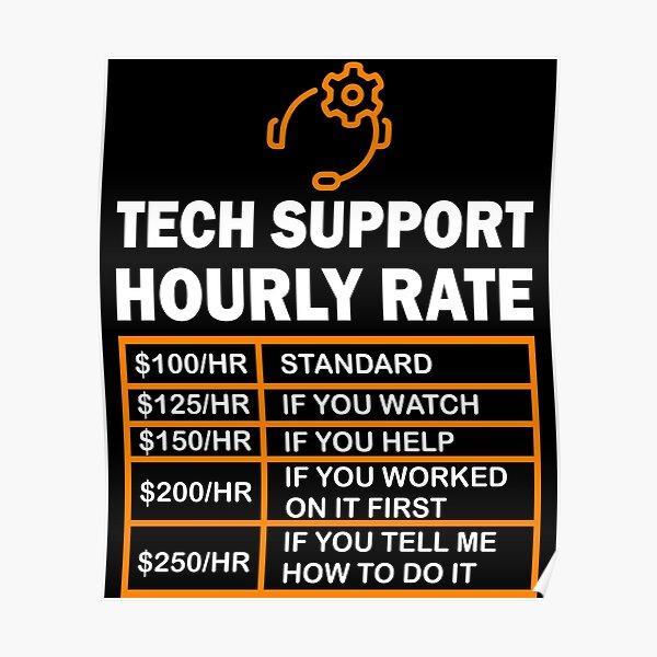 Tech Support Computer Nerd Geek Gift Poster