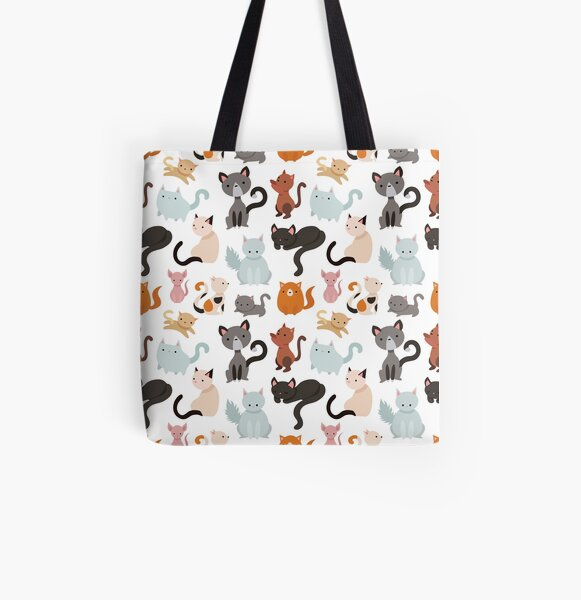 You've Cat to be Kitten Me Right Meow All Over Print Tote Bag