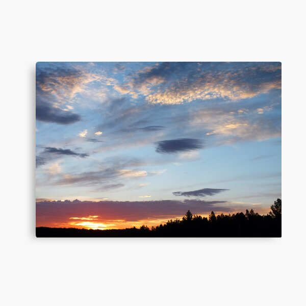 Sunrise Over Custer Canvas Print