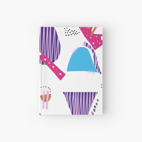 Abstract Poppy Colorful Shapes Hardcover Journal