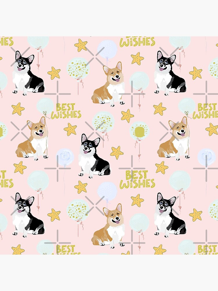 My Corgi World - Majesty Pembroke - Cute welsh cardigan Best Wishes by Corgiworld