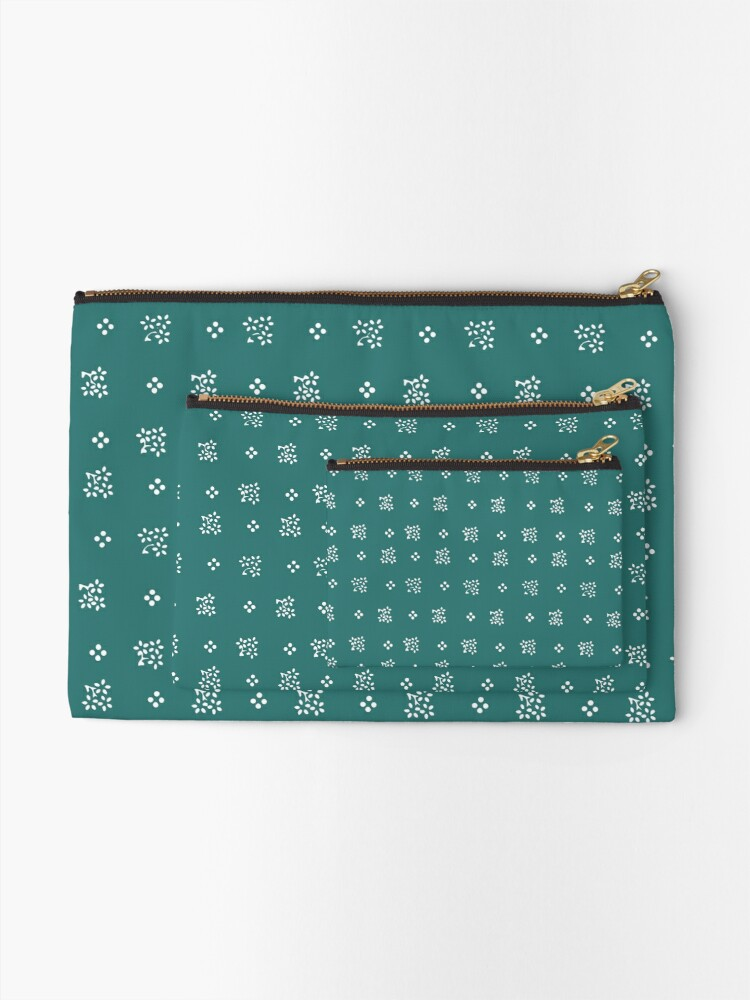 Alternate view of Nostalgic scatter flowers in modern colors Zipper Pouch