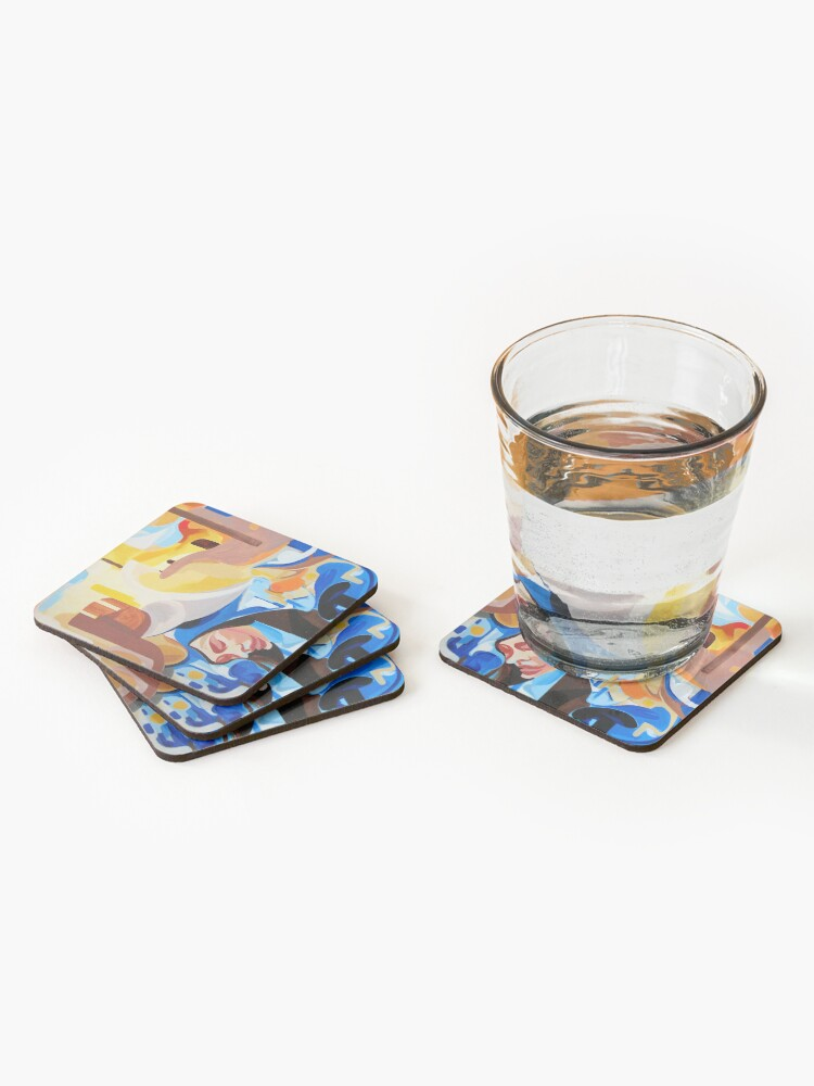 Alternate view of Composition Painting Castle Introspection Coasters (Set of 4)