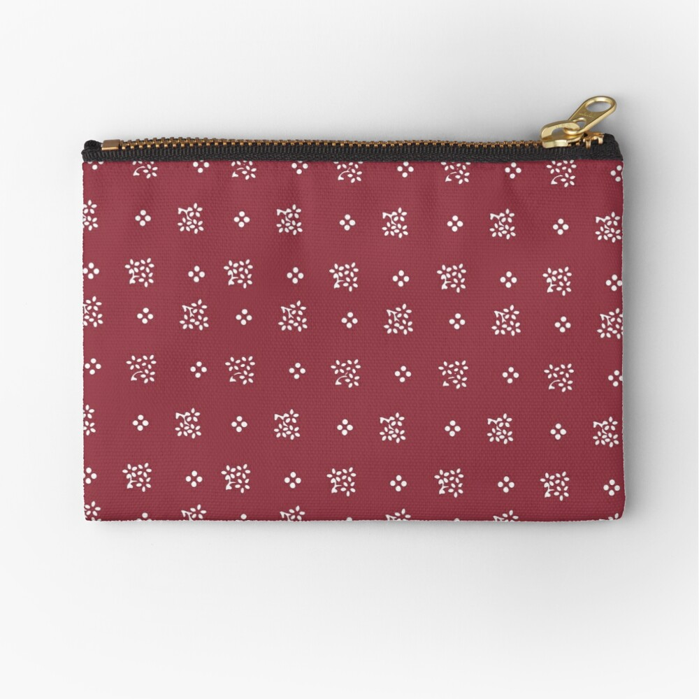 Nostalgic scatter flowers in modern colors Zipper Pouch