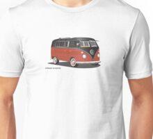 VW Bus T2 Samba Red Blk Blk Unisex T-Shirt