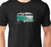VW Bus T2 Samba Green Wht Unisex T-Shirt