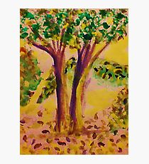 Early Fall, watercolor Photographic Print