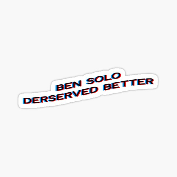 The Ben Solo Collection  Glossy Sticker