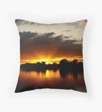 Sunrise at Mannum Throw Pillow