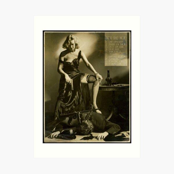 Vintage Hollywood Movie Poster Censorship Hays Code A.L. Whitey Schafer (1934) Art Print