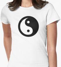 Yin Yang Ideology Womens Fitted T-Shirt