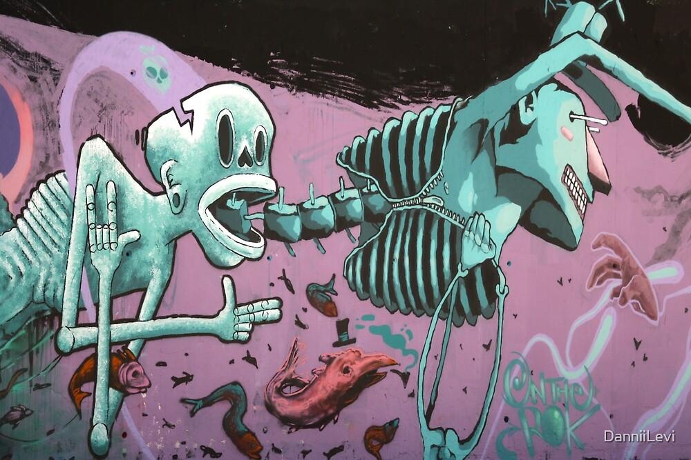 Skeleton Graffiti by DanniiLevi