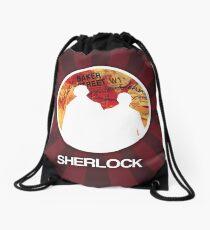 Sherlock Round Modern Poster Drawstring Bag