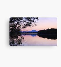 wollumbin reflections ... Canvas Print