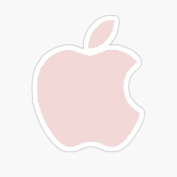 logo pomme rose clair Sticker