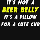 Beer Belly - Pillow for a Cub by Cookiedav