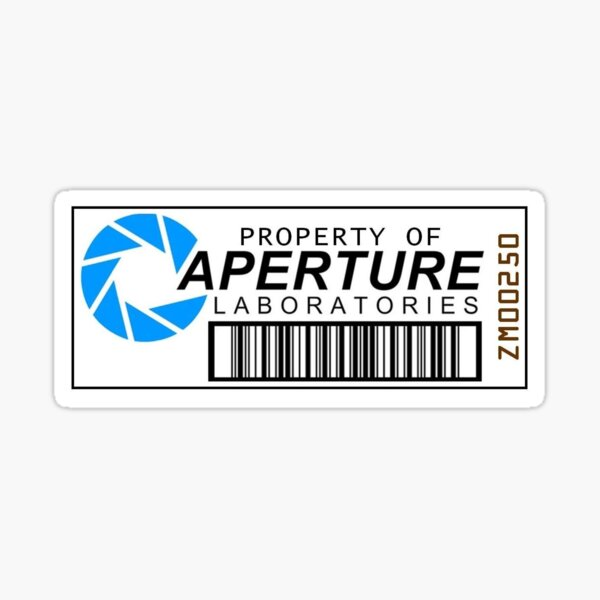 Portal- Property of Aperture Laboratories Logo Sticker