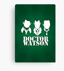 Doctor Watson Poster Canvas Print