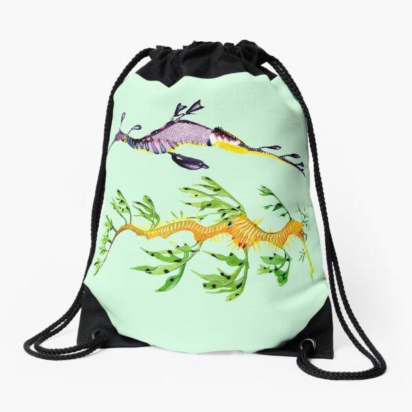 LEAFY SEADRAGON & COMMON SEADRAGON Drawstring Bag