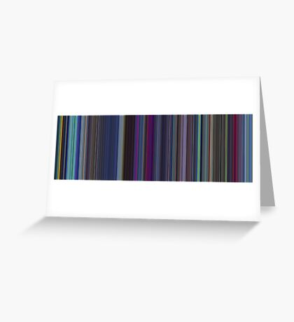 Moviebarcode: The Last Unicorn (1982) [Simplified Colors] Greeting Card