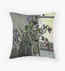 Vase of Wildflowers Throw Pillow
