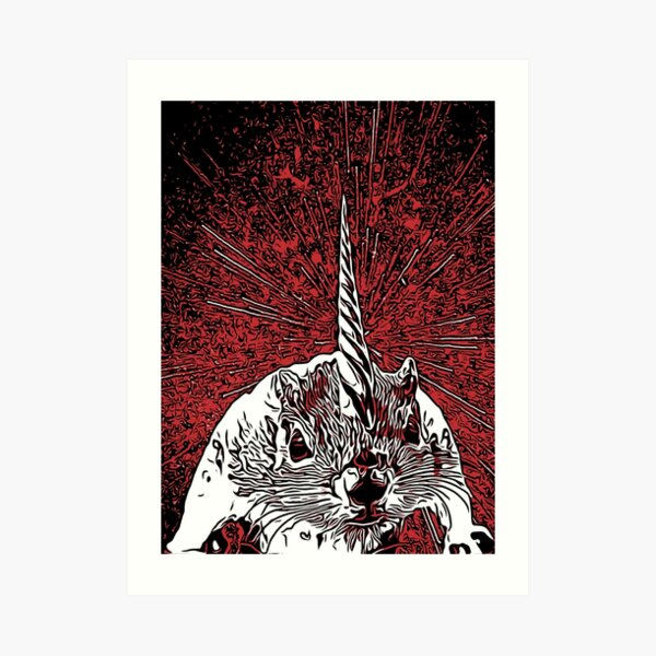 The Overlord Unicorned Squirrels From Mars Art Print