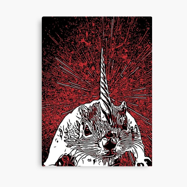 The Overlord Unicorned Squirrels From Mars Canvas Print