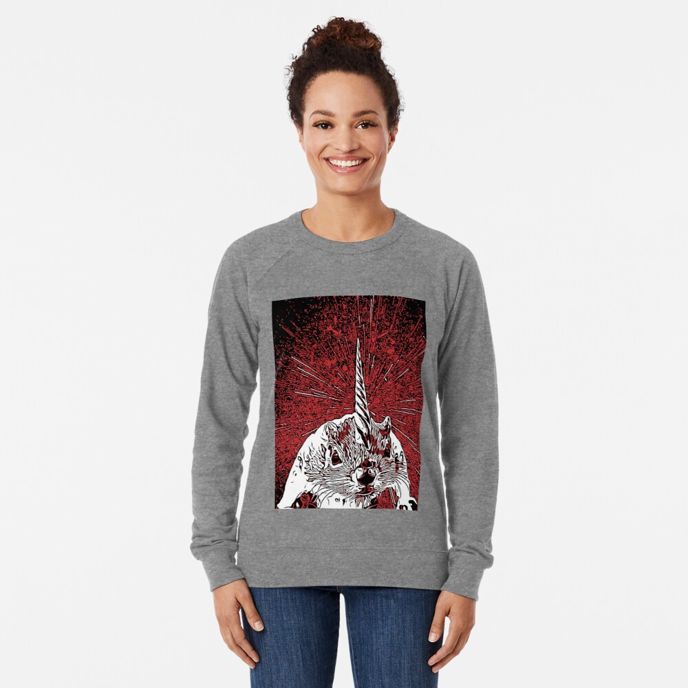 The Overlord Unicorned Squirrels From Mars Lightweight Sweatshirt