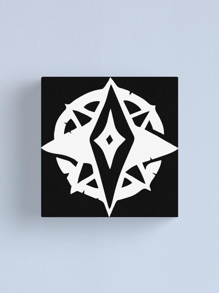 Alan Walker Symbol Roblox Sea Of Thief 2 White Logo Design Canvas Print By Scotthollanda Redbubble