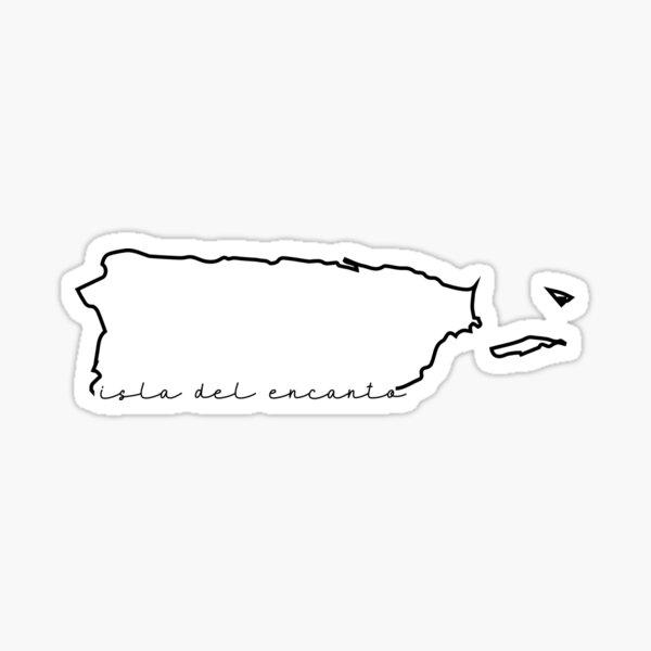 Isla del Encanto Puerto Rico Pegatina