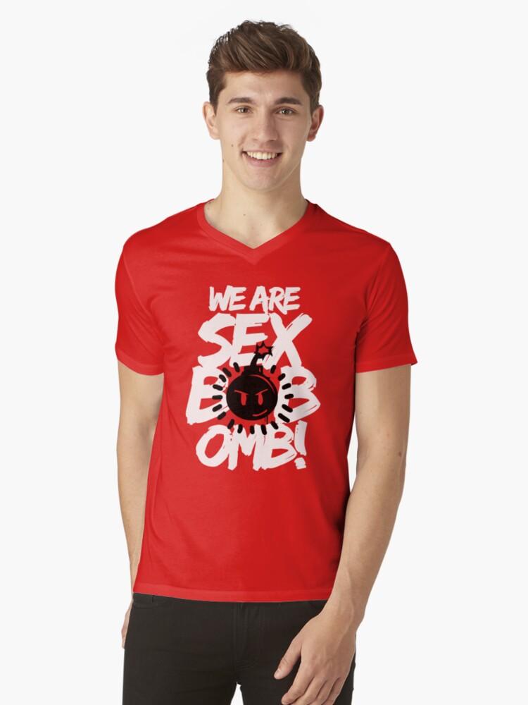 WE ARE SEX BOB-OMB! Mens V-Neck T-Shirt Front