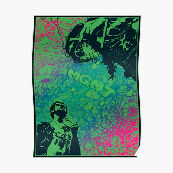 M G M T Psychedelic Poster