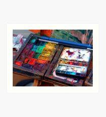 Artists colours. Art Print