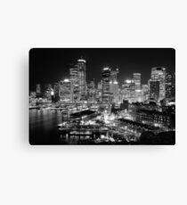 The City of Sydney at night Canvas Print