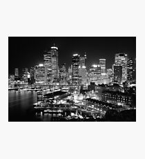 The City of Sydney at night Photographic Print