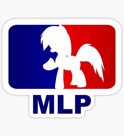 Major League Pony (MLP) - Rainbow Dash Sticker
