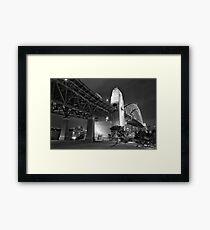 Sydney Harbour Bridge at night Framed Print